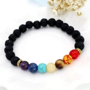 Jewelry - 5/$15New Chakra Natural Lava Stone Beaded Bracelet